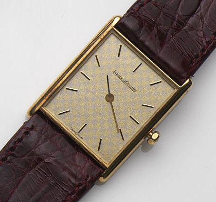 Jaeger-LeCoultre. An 18ct gold quartz wristwatchRef:120.109.1, Case No.1599734, Movement No.2384288, Circa 1990