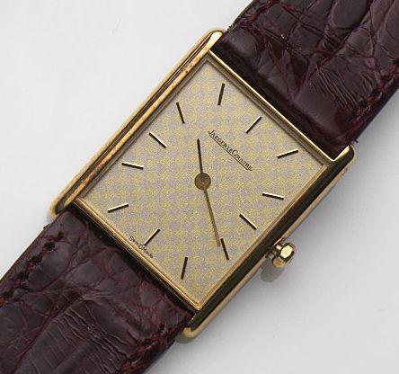 Jaeger-LeCoultre. An 18ct gold quartz wristwatch Ref:120.109.1, Case No.1599734, Movement No.2384288, Circa 1990