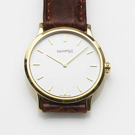 Eberhard & Co. An 18ct gold quartz wristwatchRialto, Case No.60048, Circa 1990