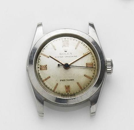 Rolex. A stainless steel manual wind watchSpeedking, Ref:4220, Case No.385294, Circa 1945