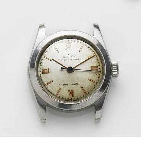 Rolex. A stainless steel manual wind watch Speedking, Ref:4220, Case No.385294, Circa 1945