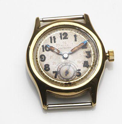 Rolex. A gold plated manual wind watch headVictory, Circa 1940