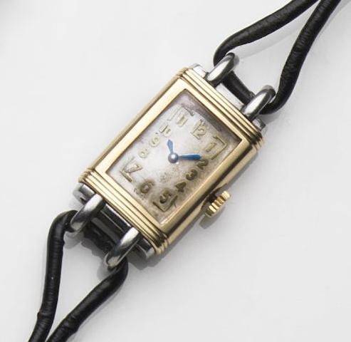 Jaeger LeCoultre. A stainless steel and 9ct gold manual wind wristwatchCase No.47939, Movement No.82652, Circa 1951