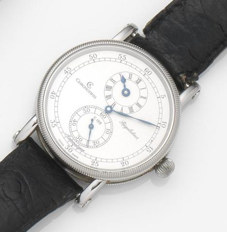 Chronoswiss. A stainless steel automatic wristwatchRegulateur, Ref:CH 1223, Case No.1 1138, Sold 9th July 1992