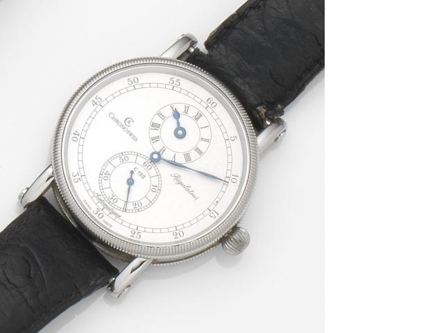 Chronoswiss. A stainless steel automatic wristwatch Regulateur, Ref:CH 1223, Case No.1 1138, Sold 9th July 1992