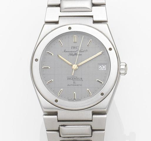IWC. A stainless steel automatic calendar bracelet watch Ingenieur SL, Case No.2386158, Movement No.2407570, Circa 1990