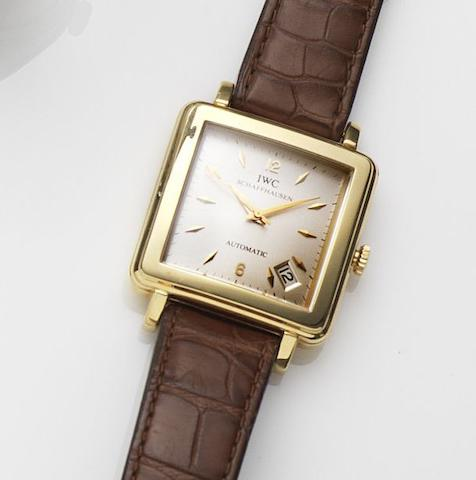 IWC. An 18ct gold automatic calendar wristwatch with box and papers Ref:1876, Case No.2467402, Movement No.2125537, Sold 21st December 1991