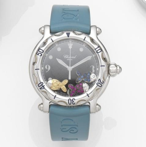 Chopard. A stainless steel quartz calendar wrist watch Happy Sport, Ref:939217, Case No.8347288-402, Recent