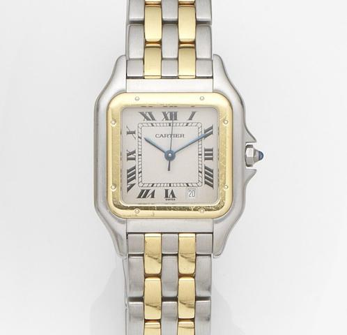 Cartier. A stainless steel quartz calendar bracelet watch Panthére, Ref:1100, Case No.CC67741, Circa 2000