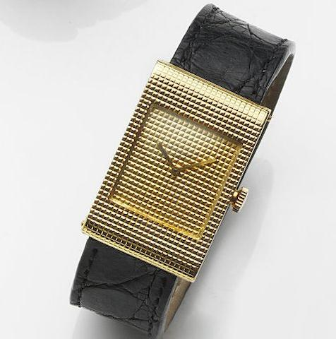 Boucheron. An 18ct gold manual wind wristwatch Reflet, Ref:908.247, Case No.21241, Circa 1980