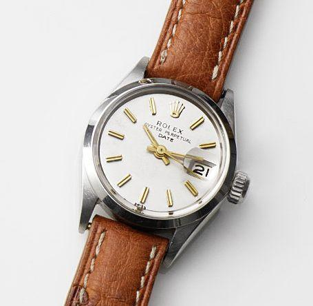 Rolex. A lady's stainless steel automatic calendar wristwatch Date, Ref:6516, Case No.1944577, Movement No.23866, Circa 1968