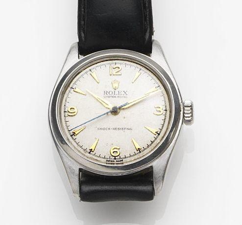 Rolex. A stainless steel manual wind centre seconds wristwatch Oyster Royal, Ref:6144, Case No.773028, Circa 1961