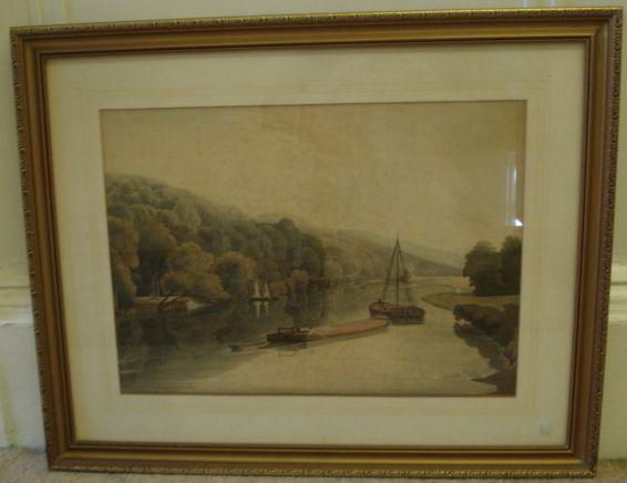 After William Havell (British, 1782-1857) Cliefden Reaches aquatint, 34 x 47.5cm. and two other aquatints after Havell; Caversham Bridge, Reading and Marlow Weir, to be sold together with 4 prints after William Cooke, 2 prints after S. Walters and 2 prints after J. F. Herring Snr. (11)