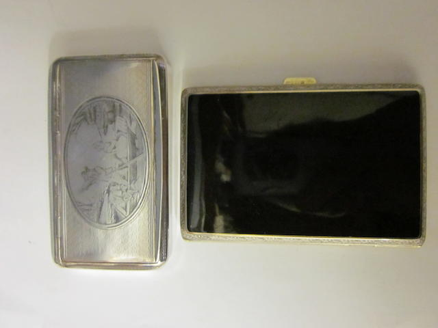 A French snuff box,  (2)
