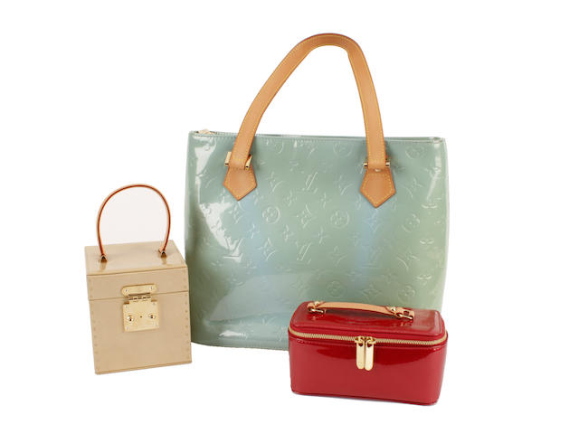 Three Louis Vuitton vernis items