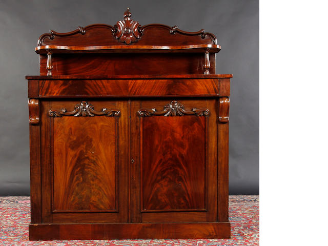 A Victorian mahogany side cabinet