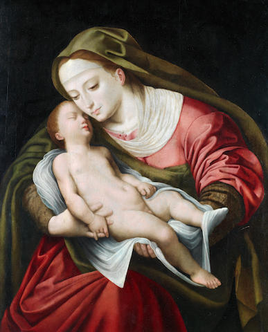 Attributed to Cornelis van Cleve (Antwerp 1520-1569) The Madonna and Child unframed
