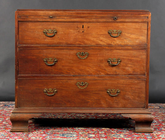 A mahogany chest