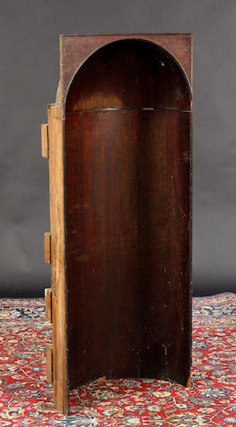 A George III mahogany alcove cupboard In need of restoration