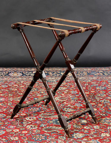 An early 19th Century mahogany butler's tray stand