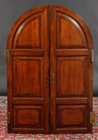 A pair of 19th Cntury walnut crossbanded doors,