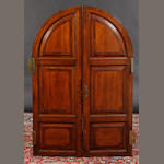 A pair of 19th century walnut crossbanded doors