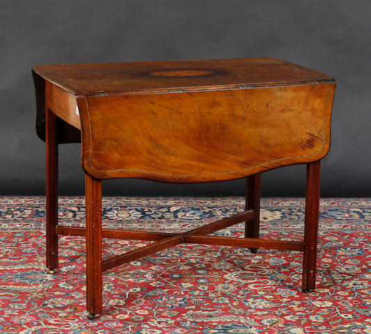 A George III inlaid mahogany Pembroke table
