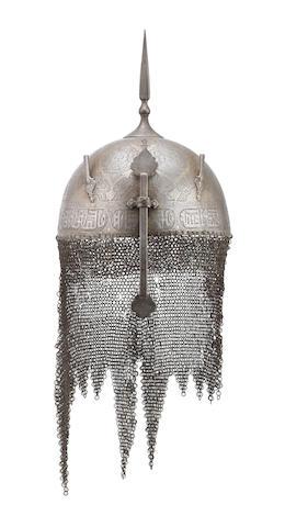 A Persian Steel Kulah Khud