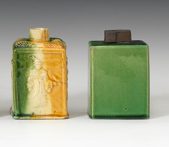 Three Staffordshire tea canisters, circa 1760-70