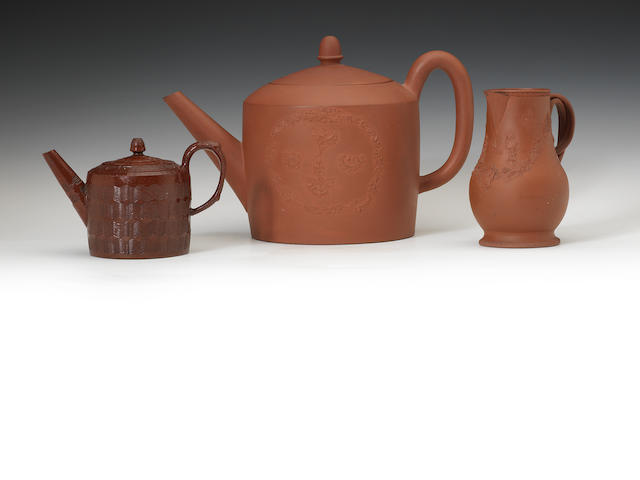 A group of redware items, circa 1760-65