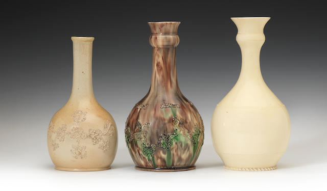 Three Water bottles or guglets, circa 1740-1770