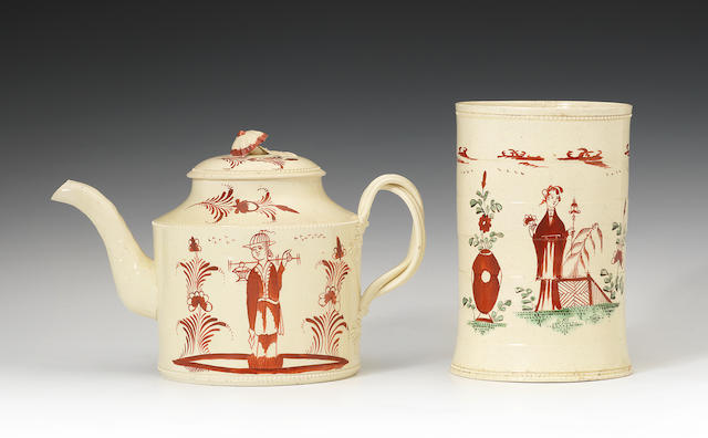 A good Swinton teapot and cover, circa 1770-78