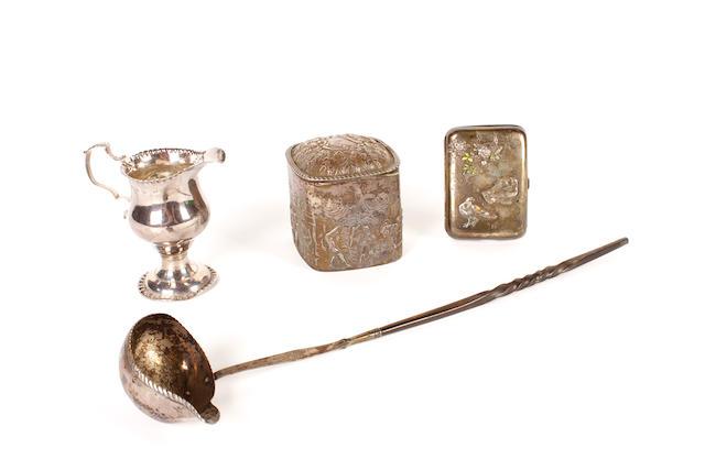 A George III silver cream jug London 1770  (4)