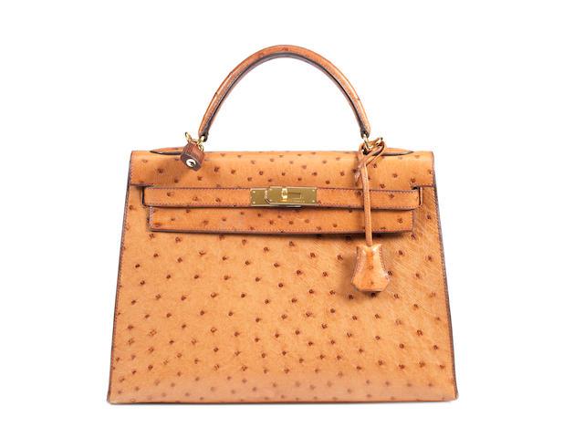 A Hermès tan ostrich Kelly bag, 2004