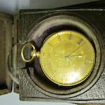 An 18 carat gold open faced key wound pocket watch,