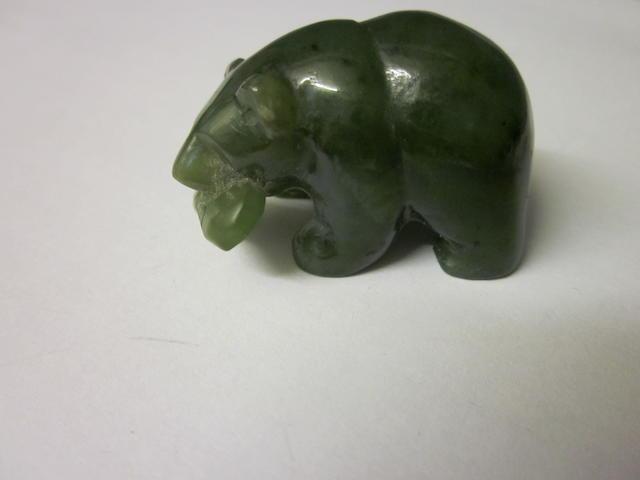 A small model of a Jadeite model polar bear,