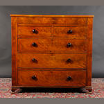 A large 19th century mahogany chest of drawers