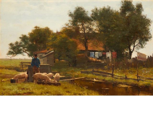 Evert Pieters (Dutch, 1856-1932) The smallholder