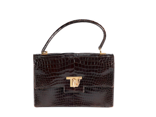 An Hermes crocodile skin handbag, with Cites certificate.