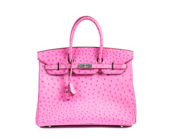 An Hermès bright pink ostrich Birkin bag, 2006