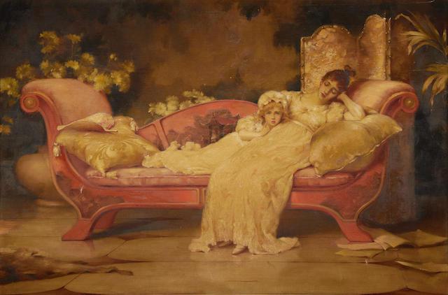 Maude Goodman (British, 1860-1938) A moment of idleness