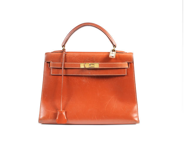 An Hermès gold box leather Kelly bag
