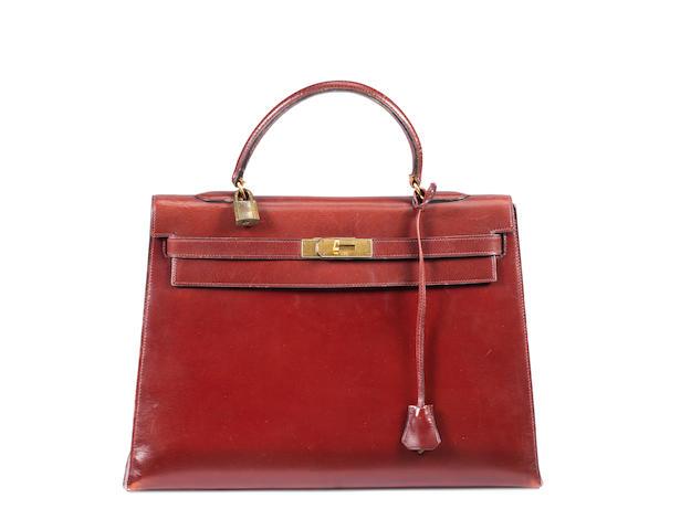 An Hermès leather Kelly bag