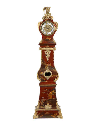 A vernis Martin Louis XV style long case clock