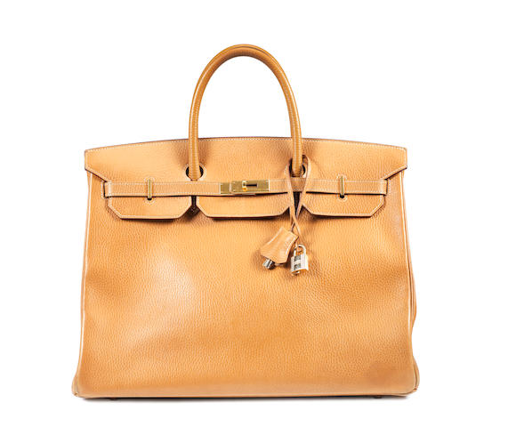 A brown leather Kelly Hermes bag