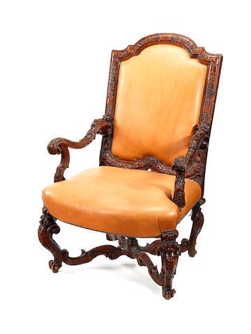 An 18th Italian rococo fauteuil