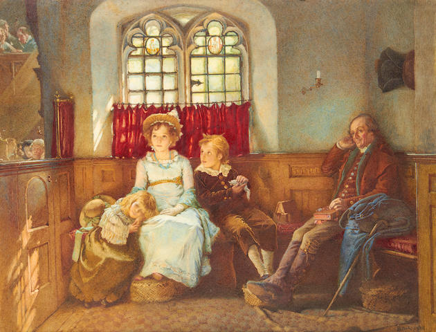 Henry Reynolds Steer (British, 1858-1928) 'Long was the good sermon'