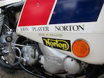 2,185 miles from new,1974 Norton 749cc John Player Commando 'Short-Stroke' Frame no. 317783 Engine no. 317783