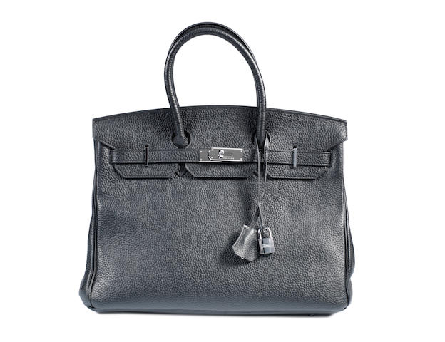 An Hermès black togo leather Birkin bag, 2007