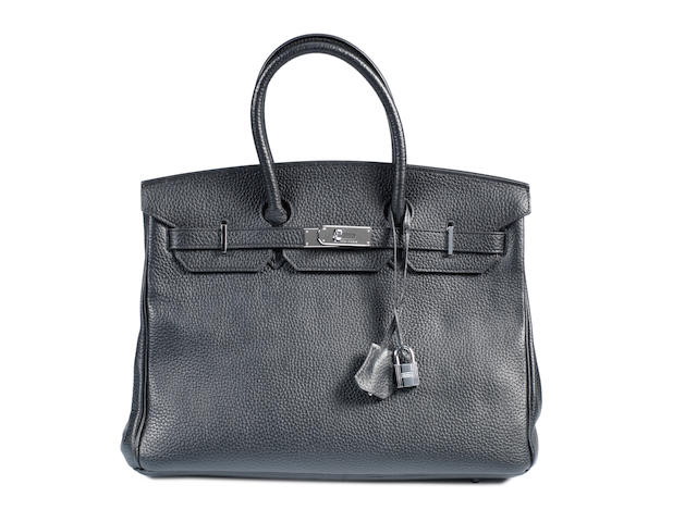 An Hermes Birkin bag, black (to be examined)